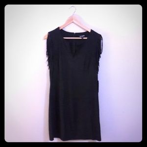 NWT Express Faux Suede Dress with Fringe Sleeves
